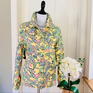 THE TOG SHOP Yellow Pink Floral Cotton Jacket